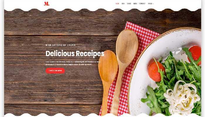 An Edited Slider Sample Image of a Restaurent Website that suggested by Leading Web Design partner Digital SEO.
